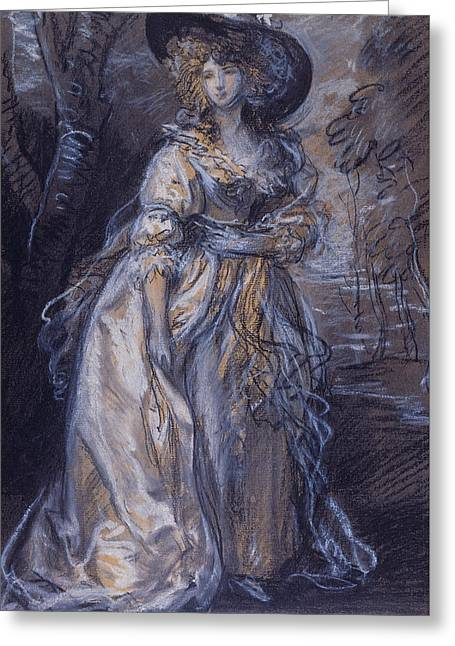 Study Of A Lady Greeting Card