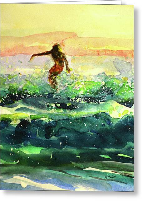 Study Of A Surfer 1 Greeting Card
