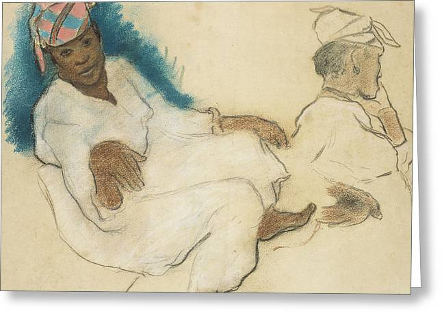 Study Of Martinique Women Greeting Card