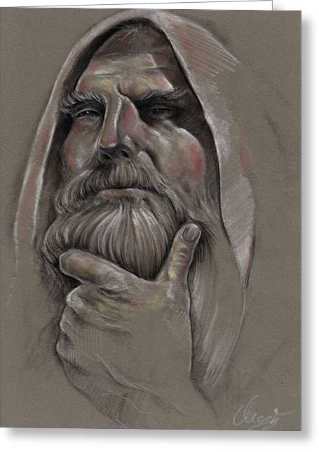 Study Of Old Man  Greeting Card