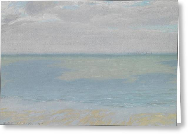 Deep Blue Sea Greeting Cards - Study of Sky and Sea Greeting Card by Herbert Dalziel