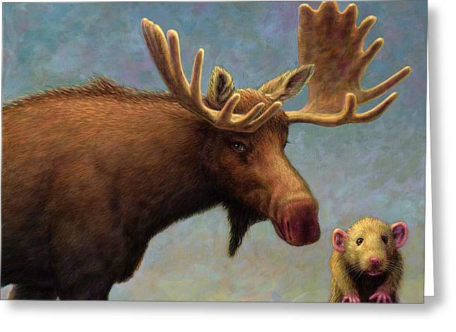 Study Of Two Mammals Greeting Card