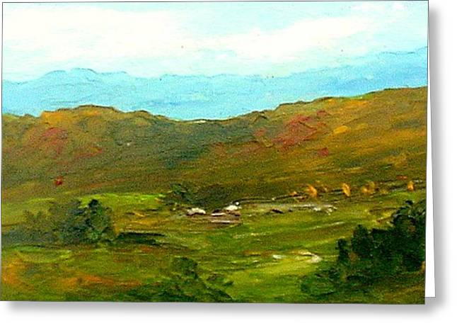 Greeting Card featuring the painting Study Ranch Land by Fred Wilson