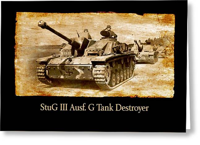 Greeting Card featuring the digital art Stug IIi Ausf G Tank Destroyer by John Wills