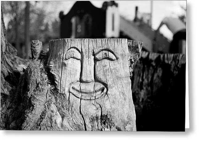 Stump Face 1 Greeting Card
