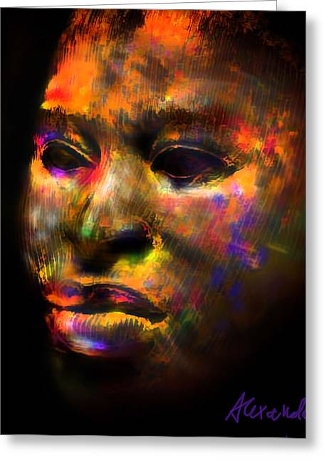 Stunning African Mask  Greeting Card