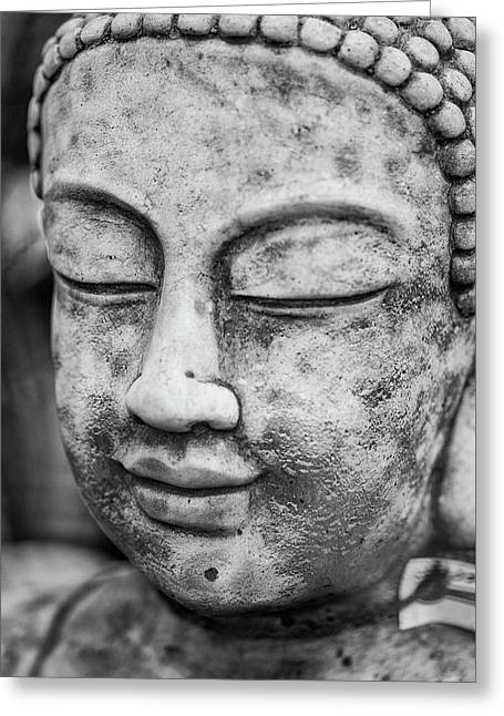Stunning Buddha Statue Portrait With Shallow Depth Of Field And  Greeting Card by Matthew Gibson