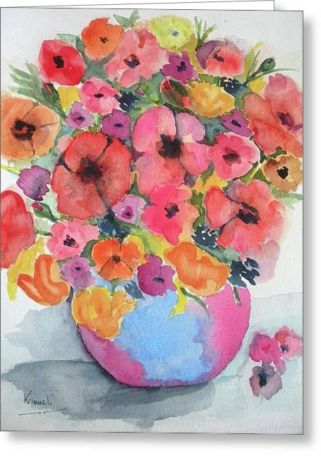 Stunning Flower Arrangement Greeting Card by Harold Kimmel