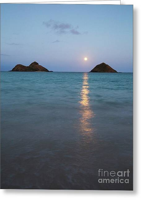 Stunning Hawaii Moonrise Greeting Card
