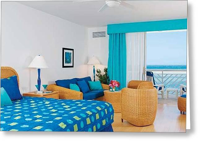 Stunning Hotel Room In St. John Greeting Card by Peter Parker