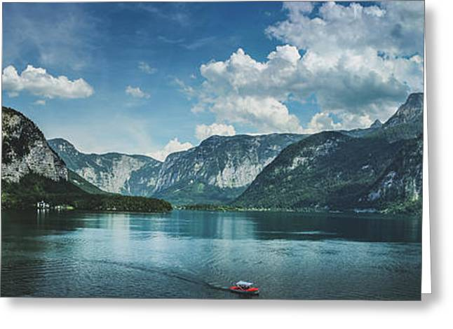 Stunning Lake Hallstatt Panorama Greeting Card