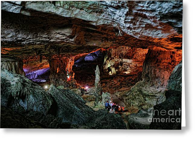Stunning Slot Cave Vietnam  Greeting Card by Chuck Kuhn