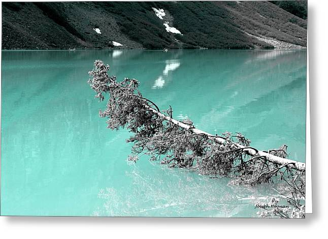 Stunning Turquoise Glacial Lake Greeting Card