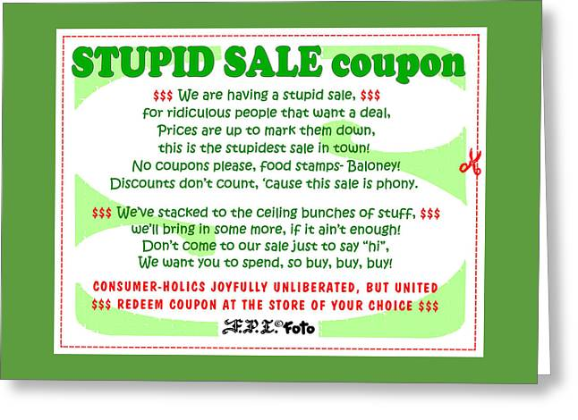 Real Fake News Stupid Sale Ad Greeting Card