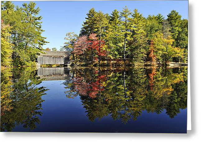 Sturbridge Massachusetts Fall Foliage Greeting Card