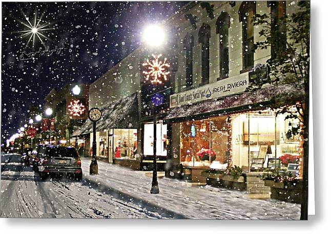 Sturgeon Bay On A Magical Night Greeting Card