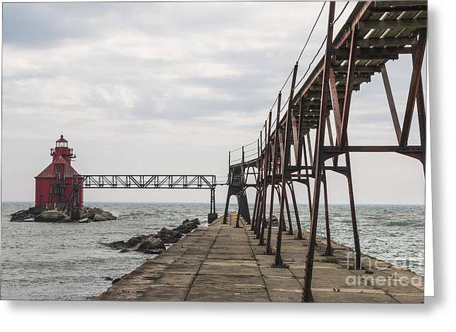 Sturgeon Bay Ship Canal North Pierhead Lighthouse 1 Greeting Card