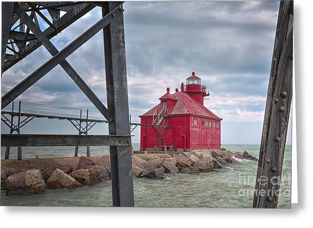 Sturgeon Bay Ship Canal North Pierhead Lighthouse 2 Greeting Card