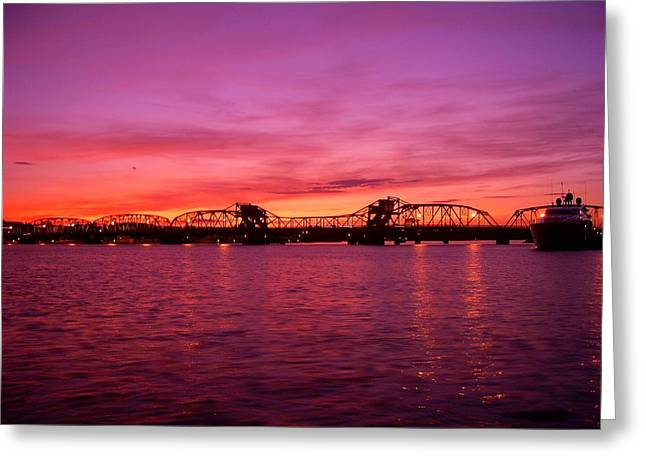 Sturgeon Bay Sunset Greeting Card by Jeremy Evensen