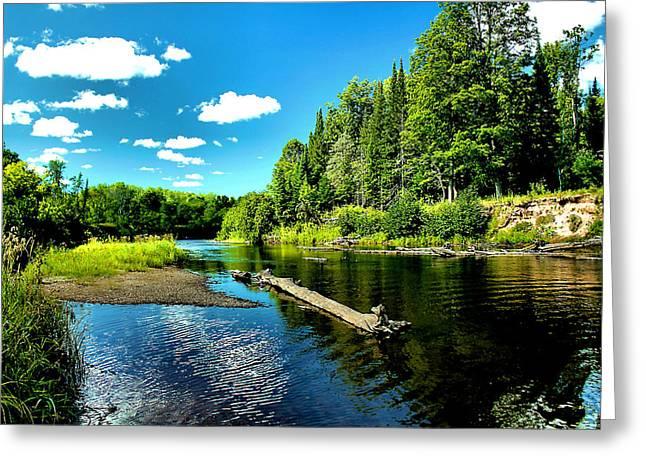 Sturgeon River In Summer Greeting Card by Matthew Winn
