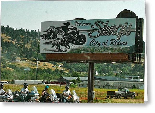 Sturgis City Of Riders Greeting Card