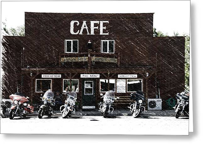 Sturgis Pit Stop Hulett Wyoming 04 Pa Greeting Card by Thomas Woolworth