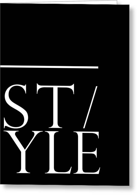 Style 1 - Minimalist Print - Typography - Quote Poster Greeting Card