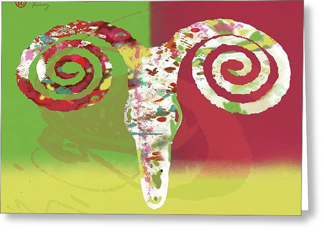 Stylised Animal Art Poster Greeting Card