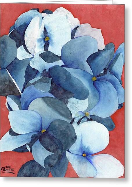 Stylized Hydrangea Greeting Card