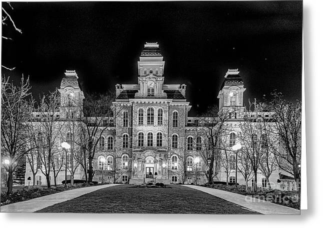 Su Hall Of Languages Greeting Card