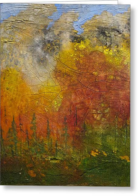 Subalpine Firestorm Greeting Card by Tonja Opperman