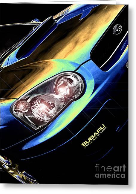 Subaru Impreza  Greeting Card by Nigel Bangert