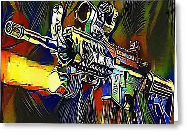 submachine gun - My WWW vikinek-art.com Greeting Card