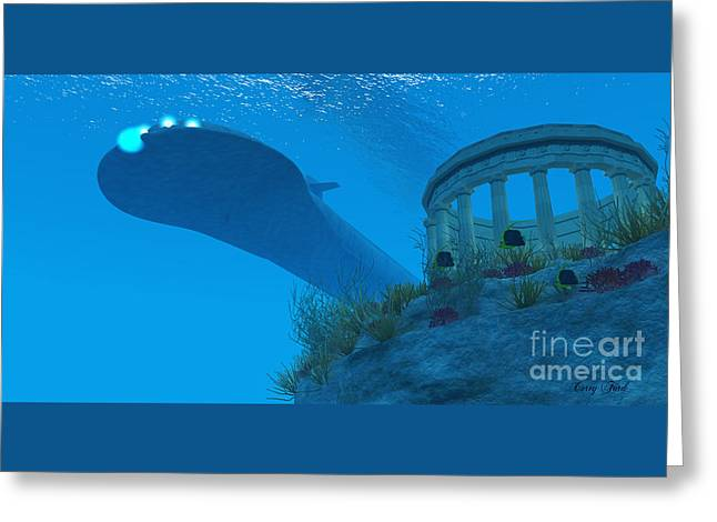 Submarine Greeting Card by Corey Ford