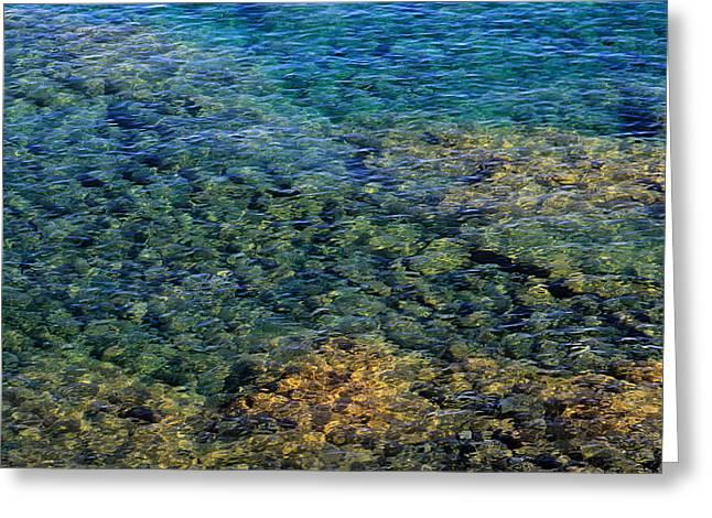 Submerged Rocks At Lake Superior Greeting Card
