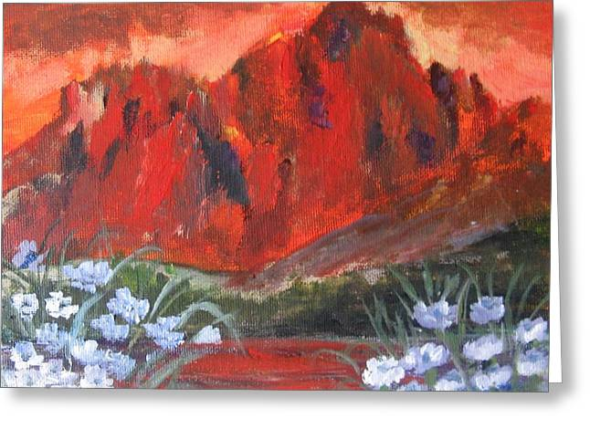 Greeting Card featuring the painting Subtle Reflections by Trilby Cole