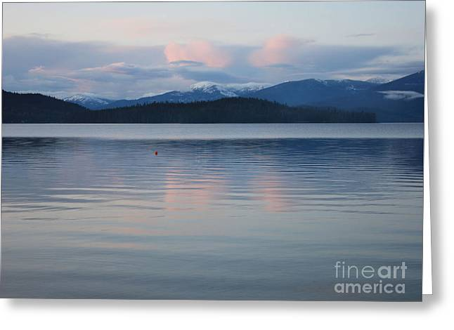 Subtle Sunset On Priest Lake Greeting Card by Carol Groenen
