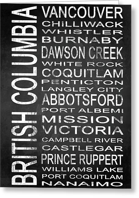 Subway British Columbia 1 Greeting Card by Melissa Smith