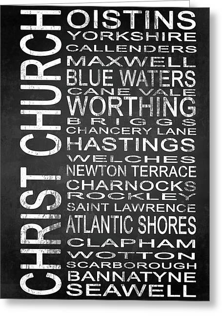 Subway Christ Church Barbados 1 Greeting Card by Melissa Smith