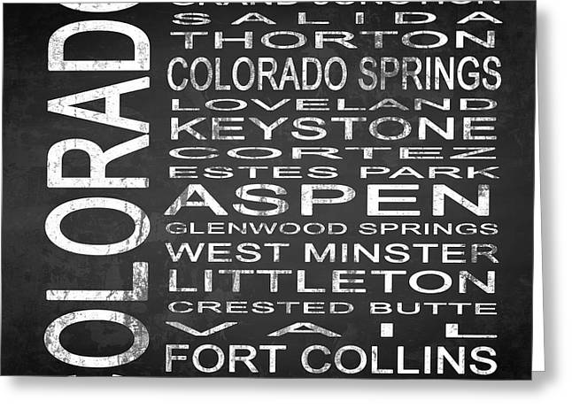 Subway Colorado State 2 Square Greeting Card by Melissa Smith