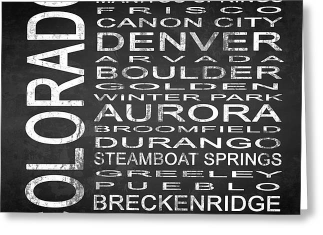 Subway Colorado State Square Greeting Card by Melissa Smith