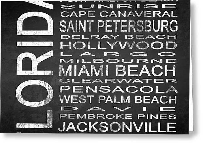 Subway Florida State Square Greeting Card by Melissa Smith