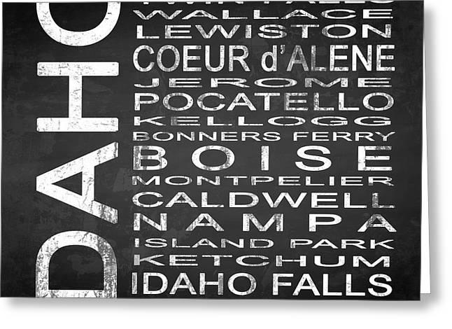 Subway Idaho State Square Greeting Card