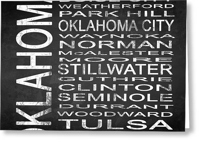 Subway Oklahoma State Square Greeting Card by Melissa Smith