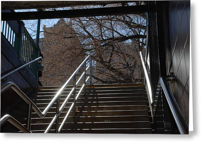 Subway Stairs Greeting Card by Rob Hans