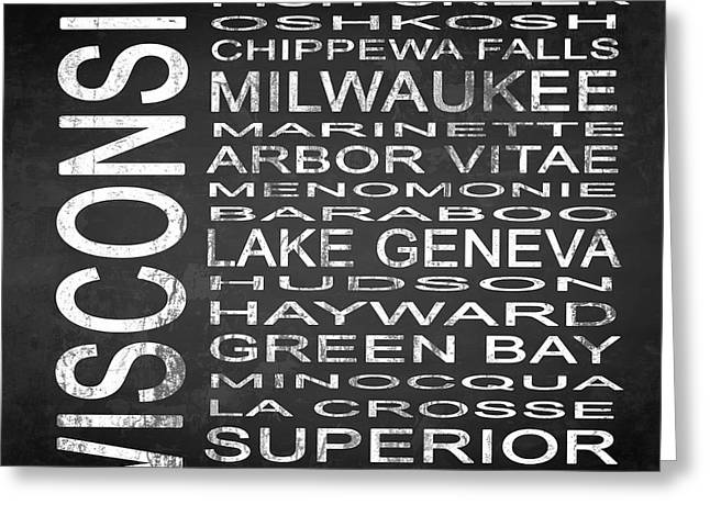 Subway Wisconsin State 2 Square Greeting Card