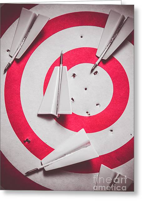 Success And Failures. Business Target Greeting Card