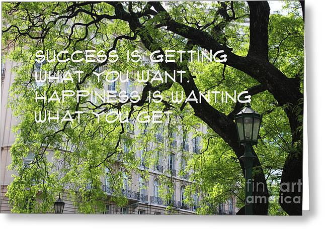 Greeting Card featuring the mixed media Success And Happiness by Wilko Van de Kamp