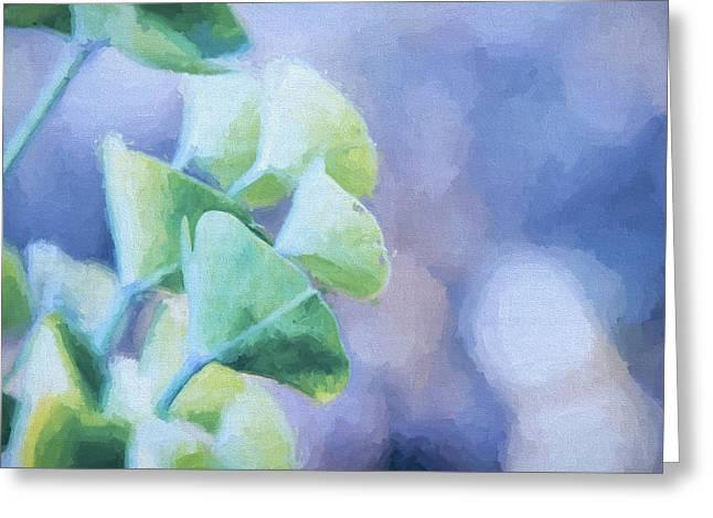 Succulent Blue Paint Greeting Card