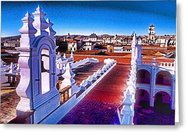 Sucre Convent Greeting Card by Dennis Cox WorldViews